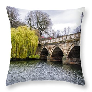 Stroll Along The Serpentine Throw Pillow