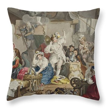 Strolling Actresses Dressing In A Barn Throw Pillow
