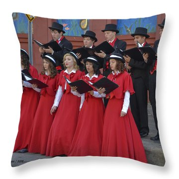 Strolling Choir Throw Pillow by Allen Sheffield