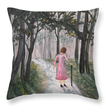 Strolling Down Memory Lane Throw Pillow
