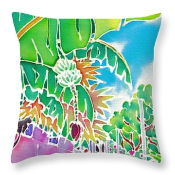 Strolling The Village Throw Pillow