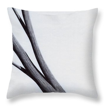 Strong Branches Between Light Throw Pillow by Giuseppe Epifani