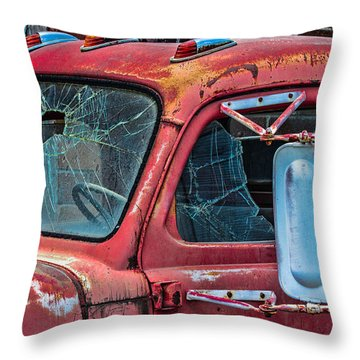 Throw Pillow featuring the photograph Strong City Red by Steven Bateson