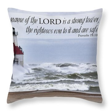 Strong Tower Throw Pillow by John Crothers