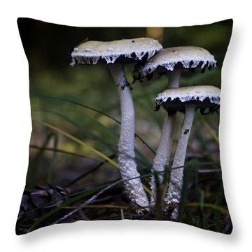 Throw Pillow featuring the photograph Stropharia Ambigua by Betty Depee
