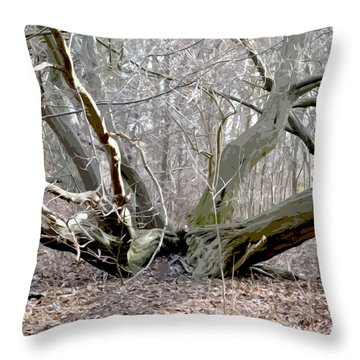 Struck By Lightning - Grafical Throw Pillow