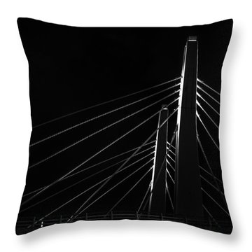 Structure In The Shadows Throw Pillow by CJ Schmit