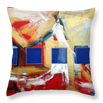 Structure No 6 Throw Pillow by Walter Fahmy