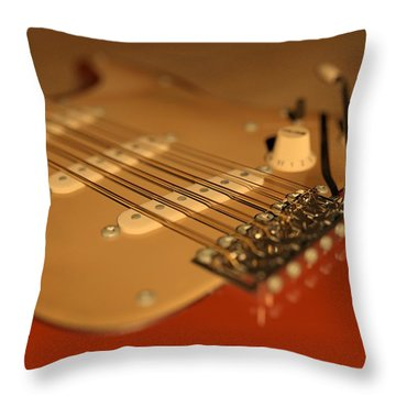 Strummed Throw Pillow by James Barnes