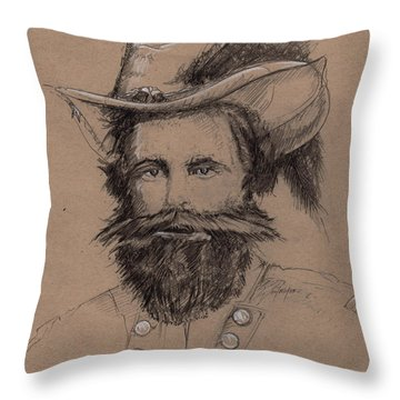 Stuart's Rebuke Throw Pillow