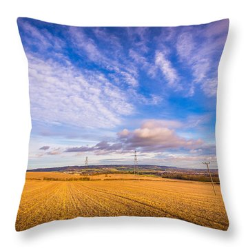 Throw Pillow featuring the photograph Stubble Fields by Gary Gillette