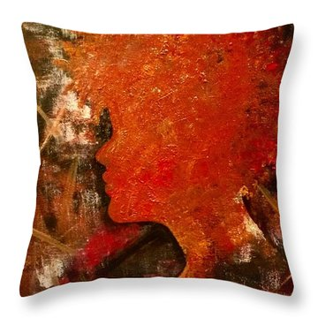 Stuck In Shadows Throw Pillow