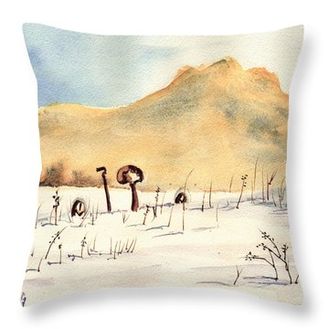 Stuck In The Snow Throw Pillow