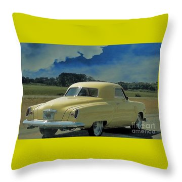 Studebaker Starlight Coupe Throw Pillow by Janette Boyd