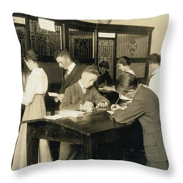 Students Learn About Money Throw Pillow