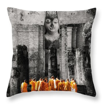 Students Throw Pillow by Tassanee Angiolillo