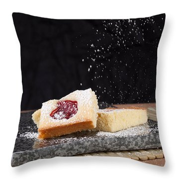 Studio Shot Of Home Made Pastry Throw Pillow