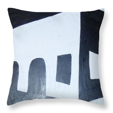 Study 6 Throw Pillow by Erika Chamberlin