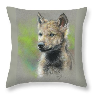 Study - Baby Wolf Throw Pillow