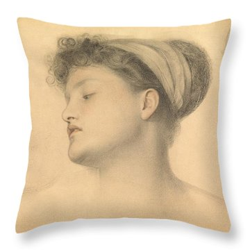 Study For Girl With Doves Throw Pillow by Anthony Frederick Augustus Sandys