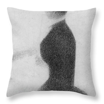Study For Sunday Afternoon On The Island Of La Grande Jatte Throw Pillow by Georges Pierre Seurat