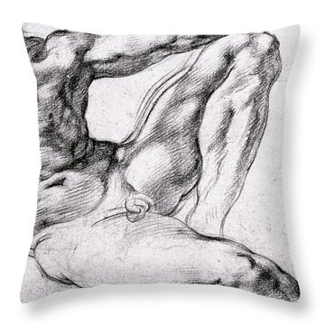 Study For The Creation Of Adam Throw Pillow