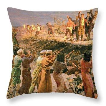 Study For The Execution Of The Twenty Six Baku Commissars Throw Pillow