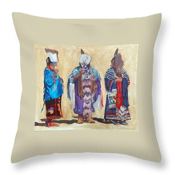 Study For The Three Sentinels Throw Pillow