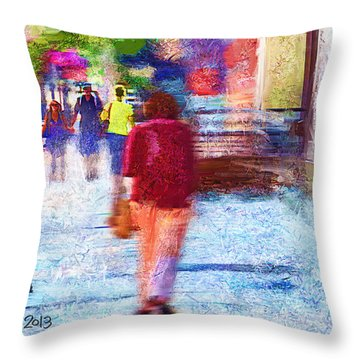 Study In A Park Throw Pillow