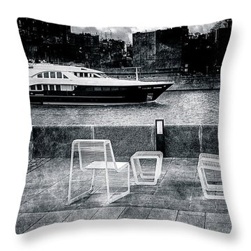 Study In Black And White Throw Pillow by Alexander Senin