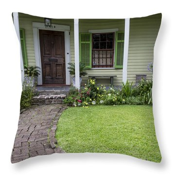 Study In Green Throw Pillow by David Cote