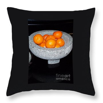 Study In Orange And Grey Throw Pillow