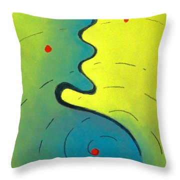 Throw Pillow featuring the drawing Study In Red by Dan Redmon