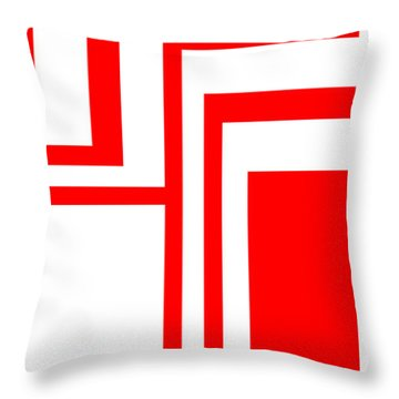 Study In White And Red Throw Pillow
