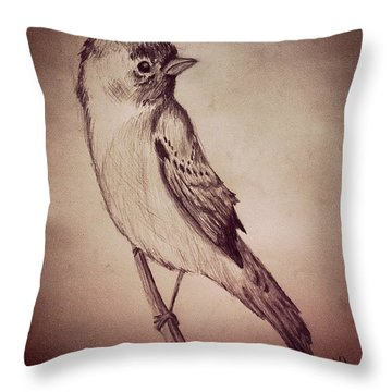 Study Of A Bird Throw Pillow by Jessica Sanders