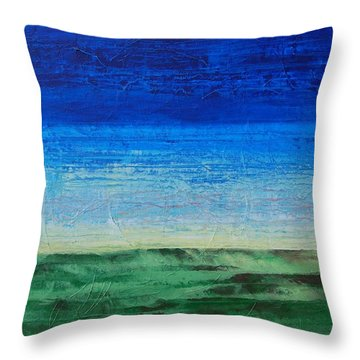 Throw Pillow featuring the painting Study Of Earth And Sky by Linda Bailey