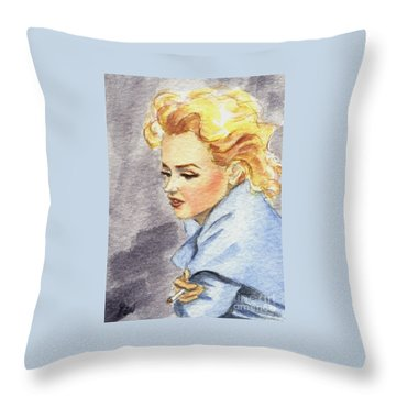 study of Marilyn Monroe Throw Pillow