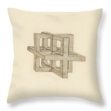 Study Of Perspective  Throw Pillow