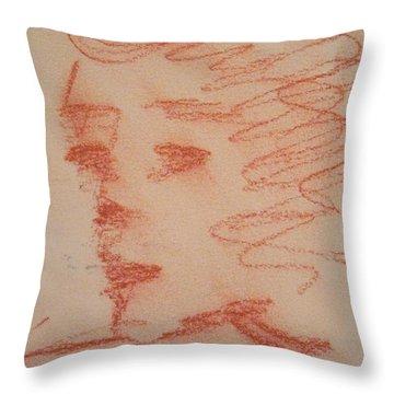 Study Of Sanguine Throw Pillow