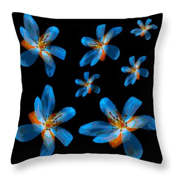 Study Of Seven Flowers #2 Throw Pillow