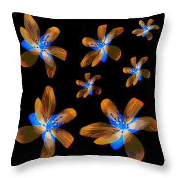 Study Of Seven Flowers #5 Throw Pillow