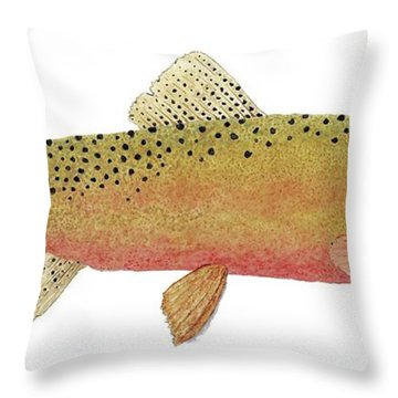 Study Of The Greenback Cutthroat Throw Pillow by Thom Glace