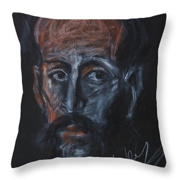 Study Of The Male Face Throw Pillow