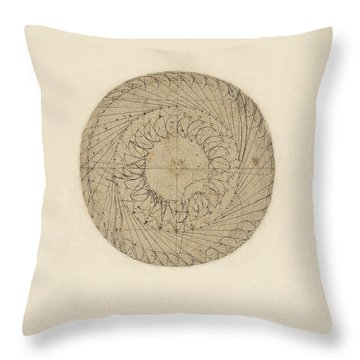 Study Of Water Wheel From Atlantic Codex  Throw Pillow