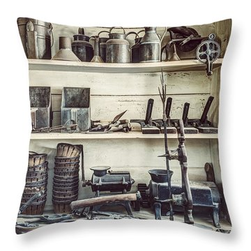 Stuff For Sale - Old General Store Throw Pillow by Gary Heller
