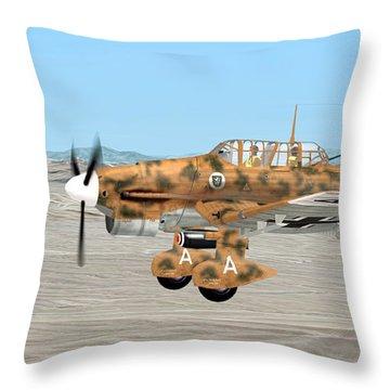 Stuka Dive Bomber Throw Pillow