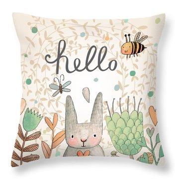 Bees Throw Pillows