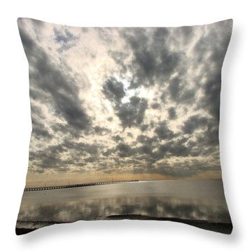 Throw Pillow featuring the photograph Stunning Coastal Sunrise by Linda Cox