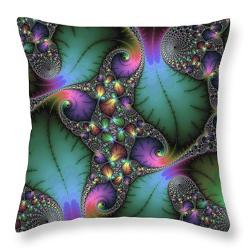 Stunning Mandelbrot Fractal Throw Pillow