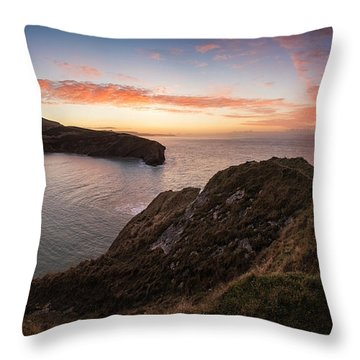 Stunning Sunrise Over Ocean Landscape Throw Pillow by Matthew Gibson